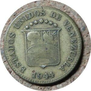 elf Venezuela 5 Centimos 1944  World War II  Denver Mint  Horse