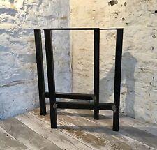 2 fatto a mano H-Frame in ACCIAIO GREZZO upcycle scrivania Bench le gambe del tavolo stile industriale