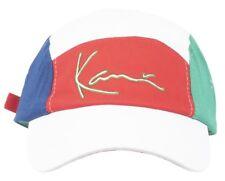 KANI TRADMARK 5-PANEL HAT MULTI CURVED BILL DAD CAP MENS WHITE 90s FASHION