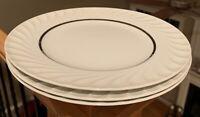 "Princess China ELEGANCE platinum 10 5/8"" Dinner Plates Set of 3"