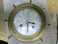 Vintage Brass Schatz Ships Bell 8 day Clock Germany 7 Jewels