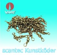 50 Stück VMC 3540 PO Tönnchenwirbel Messing 40kg Tragkraft für Bleigussform