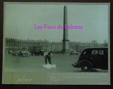 CPSM COURSE SUR GLACE CONCORDE PARIS 1938 POEME HENRY MILLER postcard