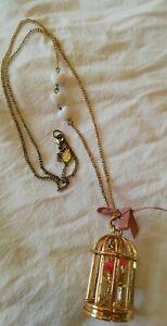 Collana Accessorize birdcage Nuova da collezione privata shabby fashion jewelry