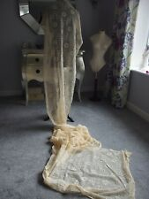 antique lace curtain panel