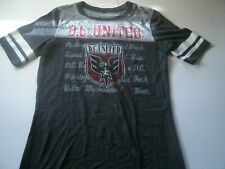 Adidas Girls Size M Graphic T-Shirt D.C. United Short Sleeve Dark Gray Color
