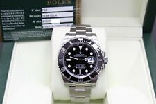 Rolex Submariner Ceramic 116610 Black Stainless Steel w/Box & Papers Open Card