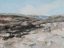 Steve Greaves ORIGINAL LANDSCAPE PAINTING Snow Scene Woodhead Moors Art Moorland