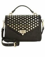 INC International Concepts Jessa Women's Studded Top Handle Crossbody Bag Black