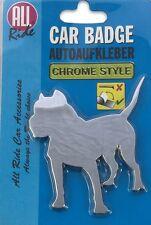 Staffy PITBULL CHIEN Chrome Style Peel & Stick Voiture Van Camion Badge Accessoire 3D