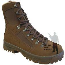 Meindl High Liability Desert Boots Dark Brown Suede Genuine British Army Issue