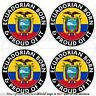 "ECUADOR Ecuadorian Born & Proud South America Decals-Stickers 2"" (50mm) x4"