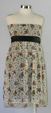 New MATERNITE DESIGNS Maternity Clothes Strapless Floral Cocktail Dress M 6/8