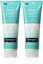 2X! Neutrogena Deep Clean Mask / Cleanser Purifying Clay 4.2 Ounce (124ml)