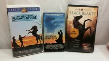 Black Beauty, The Man from Snowy River & Return to Snowy River, 3 VHS Horse Lot