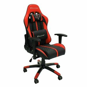Refurbished  Arteon X Rocker Faux Leather Junior Gaming Chair - Red.