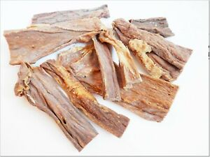 <500g >Dried BEEF UDDERS crunchy chews, delicious treats, jerky 100% NATURAL