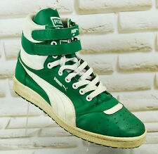 PUMA SKY II Contact Mens Green Leather Hi-Top Shoes Sneakers Size 8 UK 42 EU
