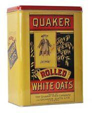 Retro Quaker Oats Storage Tin Cereal Porridge Cookie Tin.