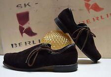 antik Herren Trachten Schuhe Halbschuhe TRUE Vintage Folklore braun brown loafer