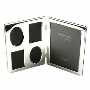 Impressions Silverplated Double Collage Hinged Photo Frame 5 Apertures