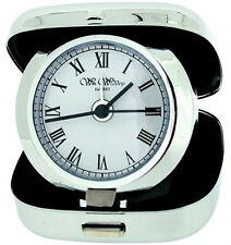 Widdop Bold Roman Numeral Metal Folding Travel Alarm Clock 9818 Battery Included