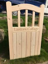 CNC Engraved Personalised Gate Name And Numbering.