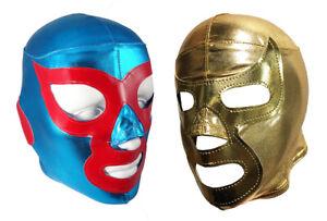 2 pack (LycraFit) NACHO LIBRE/RAMSES YOUTH KIDS Mask Lucha Libre Mask Pack