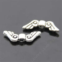 20x Retro Tibetan Silver Angel wings Spacer Beads Findings Wholesale N231P
