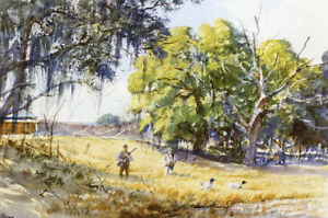 Quail Hunting by Ogden M Pleissner  Giclee Canvas Print Repro