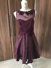 Karen Millen Burgundy Applique Dress 12