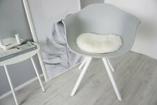 Genuine Sheepskin seat pad cushion for Eames chair - Soft wool white color Us