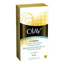 2 Pack - Olay Complete All Day Moisturizer for Sensitive Skin SPF 15 6 oz Each