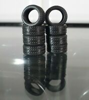 8x REAL RUBBER TYRES For 1:64 Custom Hot Wheels Matchbox Cars