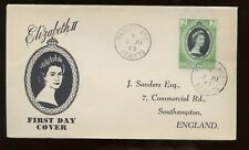 St. Christopher Nevis Anguilla Qe Coronation First Day Cover 1953 Bassetere Canc