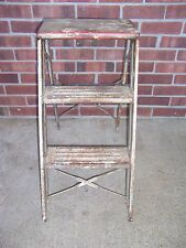 VINTAGE METAL 2 STEP FOLDING STEP STOOL LADDER ..
