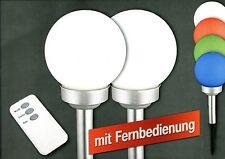 LED Solar Kugelleuchte Malin im 2er Set weiß und mit Farbwechsel, Fernbedienung