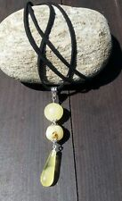 Real Baltic Amber Pendant with black cord