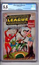 """Justice League America #9 CGC 5.5 OWP """"Origin..Justice League America! Sekowsky!"""