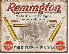 Remington UMC Rifles Pistols Metal Sign Tin New Vintage Style USA  #1788
