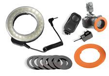 48 LED Macro Ring Light + 6 Lens Adapter for Nikon Canon Camera Camcorder DV W48