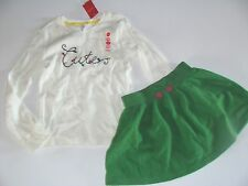 Gymboree Merry and Bright Girls Size 3 4 Cute Top Shirt Green Skirt Set NWT
