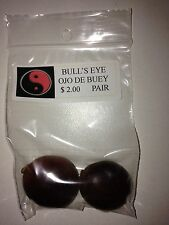 BULL'S EYE SEEDS (OJO DE BUEY) SET OF 2 FOR GOOD LUCK AND ABUNDANCE
