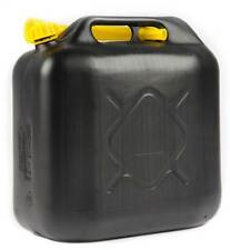 2 x 10L BLACK PLASTIC FUEL JERRY CAN PETROL DIESEL WATER 10 LITRE CAN WITH SPOUT