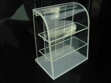 Small Mini Clear Acrylic Table Top Display Unit Dollhouse Miniature Supply Deco