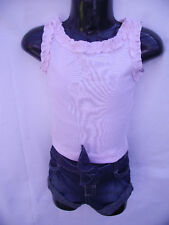~BNWT Baby Girls Sz 000 Pretty Pink Top & Denim Shorts~