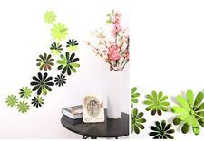 12pcs PVC 3D SPECCHIO fiore Adesivo Art Decor Farfalle Adesivi Murali