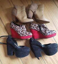 3 x pairs of ladies dress shoes job lot