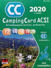 ACSI Camping Card 2020  + Ermäßigungskarte für die Vor- und Nachsaison
