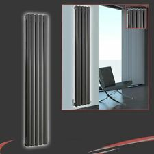 "318mm(w) x 1800mm(h) ""Elias"" Anthracite Multi-Column Vertical Radiator 4420BTUs"
